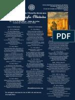 Programa del Coloquio Nacional de Filosofía Mexicana Nuestros filósofos olvidados.