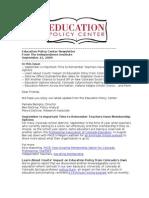 Newsletter September 21 2009