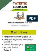 STATISTIK KESEHATAN- Slide I -