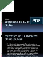 contenidos de la educacion fisica 11-24