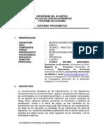 Contenido Programatico Microeconomia Intermedia II 2014