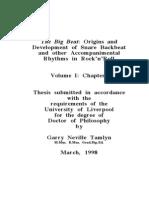 Origins and Development of Snare Backbeat