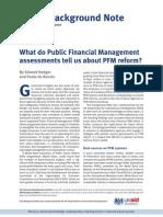 PFM Reform