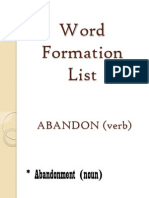 Word Formation List 1