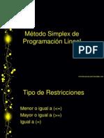 M+®todo Simplex de Programaci+¦n Lineal