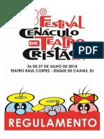 Regulamento 3º Festival Cenaculo de Teatro Cristão