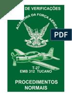 T 27 EMB 312 Tucano Procedimentos Normais 23 Out 2005