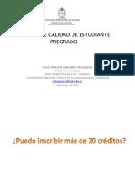 PÉRDIDA DE CALIDAD DE ESTUDIANTE PREGRADO GENERAL