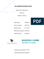 Valeant Acquisition of Bausch & Lomb