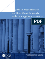 Personal Litigants Guide