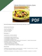Receta-Ensalada de Betabel (Remolacha), Naranjas y Queso