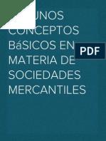 Algunos conceptos básicos en materia de sociedades mercantiles