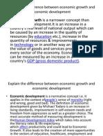 economic development review question