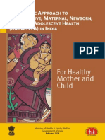 A Strategic Approach to Reproductive, Maternal, Newborn, Child and Adolescent Health (RMNCH+A) in India