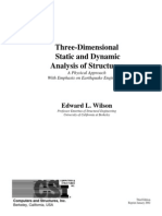 Three Dimensional Static and Dynamic Analysis of Structures Edward l Wilson 2002 423p