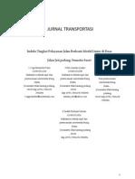 DDRT - Indeks Tingkat Pelayanan Jalan Berbasis Model Linier Di Ruas Jalan Jati Padang