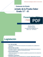 01.  Serie  G.  Pruebas Saber  Grado 11°.  Nueva Estructura   2014