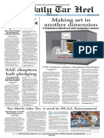 The Daily Tar Heel for March 18, 2014