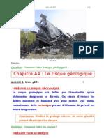 Cours de SVT 4e - Les risques géologiques