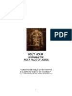 Holy Hour in Honor of the Holy Face of Jesus
