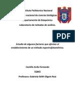 Factores Afectan Metodo Espectrofotometrico