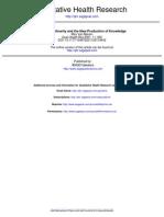 Van Manen (2001) Transdiscipliniraty and New Production of Knowledge