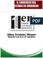 Informe Diputada Julieta Fernandez