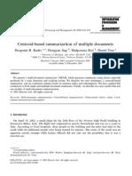 09-03 Centroid-Based Summarization of Multiple Documents