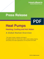 Heating, Cooling and Hot Water Heat Pumps Market to Grow by 11% CAGR (2014-2020) to Reach $116 billion