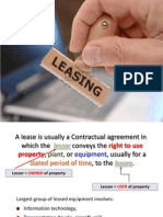 Leasing and Hire Purchasing