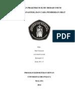 Laporan Praktikum Ilmu Bedah Umum