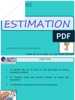 CHAPTER6 Estimation