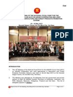 Report of the 16th Meeting on the National Focal Point for Asean Cocoa Club