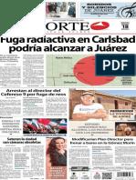 Periódico Norte de Ciudad Juárez edición impresa del 18 marzo del 2014