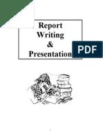 Report Writing + Presentation