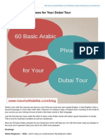 60 Basic Arabic Phrases for Your Dubai Tour