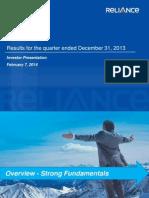 RCap Q3FY14 Results Presentation Investors