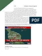 Fate of Malaysian Plane MH 370