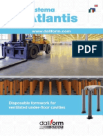 Atlantis System - Disposable formwork for ventilated floors - variable height from 56 cm to 300 cm