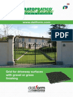 Pratopratico® - Grid for driveway surfaces with gravel or grass finishing