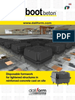 U-boot Beton® - Disposable formwork for two-way voided slabs in reinforced concrete cast on site