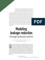 5 - Modeling Leakage Reduction AWWA 2006