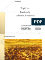 Reaction to Industrial Revolution
