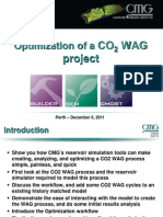 2011 What's New at CMG Event in Perth - CO2 WAG Optimization CMOST