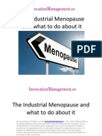 Industrial Menopause - Online Learning & Innovation Management