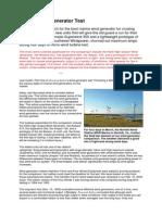Marin wind Gen Test