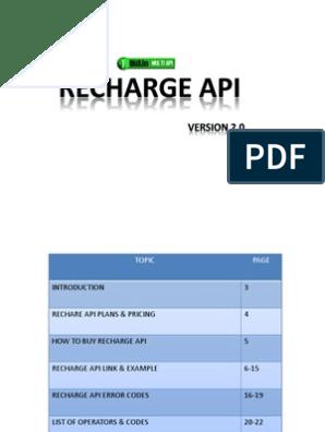 Jolo Recharge API Docs | Hypertext Transfer Protocol | Web Server