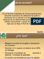presentación básica reciclaje 3.3