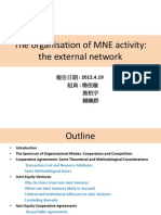 The Organisation of MNE Activity