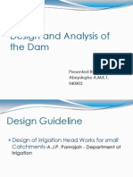 Design and Analysis of the Dam